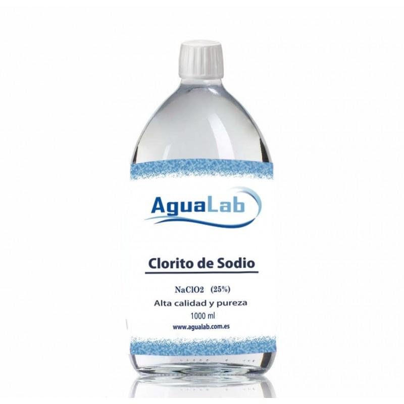 1 Litro Clorito sódico al 25% Agualab cristal