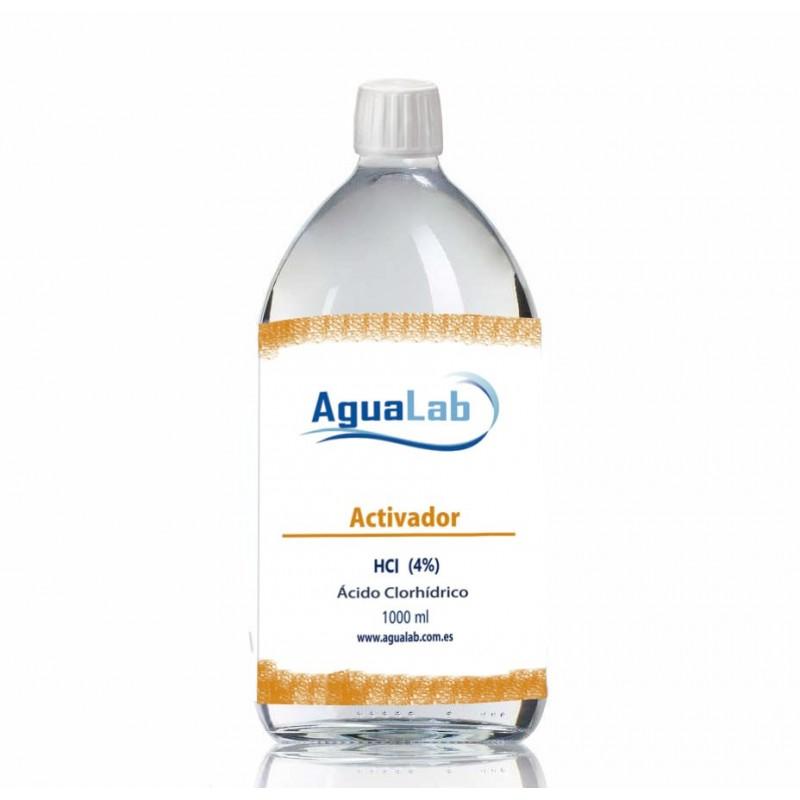 1 Litro para mayoristas de ácido clorhídrico en botella de vidrio 4 %